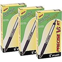 3ダース合計36、パイロットPrecise v5RT Rolling Ball Pens , x-fineブラック( 26062)