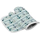 Anchor Stripes Line - Guantes de aislamiento para microondas, diseño paralelo, resistente al calor, para cocina y hornear, ideales para regalos