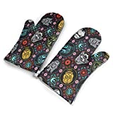 Star Wars Heat Resistant,Non-Slip Microwave Oven Gloves,Ideal Kitchen Set with Hanging Loop for Kitchen Potholders Cooking, BBQ, Baking Etc (1 Pair)