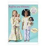 Kwik Sew Mädchen & Puppen Kleidung einfaches Schnittmuster 213passenden Schlafanzug & Nachthemd
