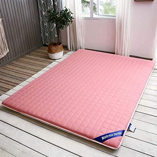 Futon Tatami pieghevole Materasso Eco-cotone memoria Materasso, giapponese Foam materasso futon antiscivolo, colore rosa, 200 * 220 centimetri, formato su misura ( Color : Pink , Size : 150*200cm )