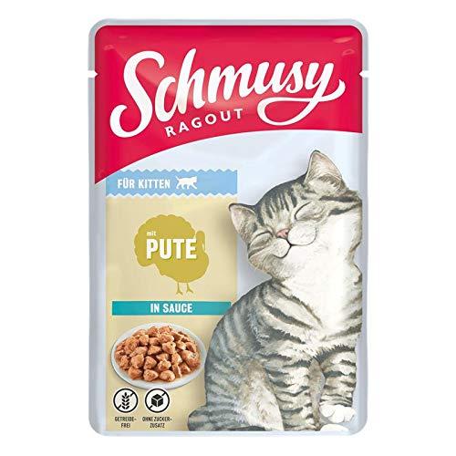 Schmusy Ragout Kitten mit Pute in Sauce 100g (Menge: 22 je Bestelleinheit)