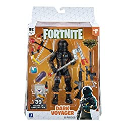 The Dark Voyager 6-inch action figure features interchangeable faces, 36+ points of articulation, and highly detailed decoration inspired by one of the most popular Outfits from Epic Games' Fortnite. Dark Voyager is equipped with the EVA Harvesting T...