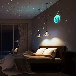 Timber Artbox Glow in The Dark 3D Star Stickers - Complete Pack with 610 Super Real Stars & 1 Detailed Moon - Just Peel & Stick to Create Your Starry Sky
