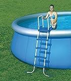 Bestway Scaletta grande per piscina 4 gradini + piattaforma - Altezza 132 cm