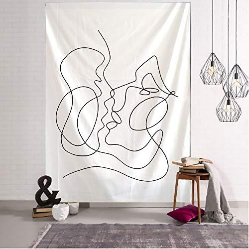 WERT Línea Creativa Pintura Tapiz Colgante de Pared Boho Tapiz de Pared psicodélico Tapiz de Pared Abstracto Tapiz A10 150x200cm
