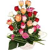 Florclick - Cesta de 25 rosas Variadas - Rosas a domicilio de lunes a sábado