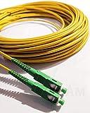 Elfcam Fibra óptica cable SC / APC a SC / APC monomodo simplex 9/125, Compatible con Orange, Movistar, Vodafone y Jazzt, 2M