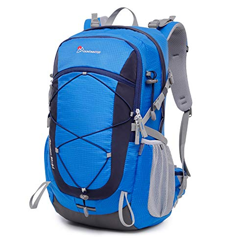 Mountaintop 40 Liter Unisex Hiking/Camping Backpack (Blue1)