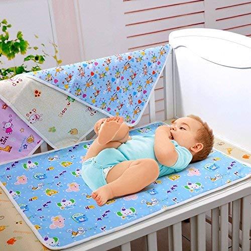 1 Stück 70 * 50 cm / 27,5 * 19,7 inch Baumwolle Tuch Wasserdichte Cartoon Wiederverwendbare Baby Infant Urinal Pad Abdeckung / matte / matratze Pad (große Größe) Windel Wickelauflage Pads