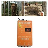 Haomingxing Cerco eléctrico Solar Energizador Controlador de Pulso de Alto Voltaje Granja de Animales Cerco eléctrico Pastor Cría Animales Controlador de cercado eléctrico para jardín 10KM(XSD280B)