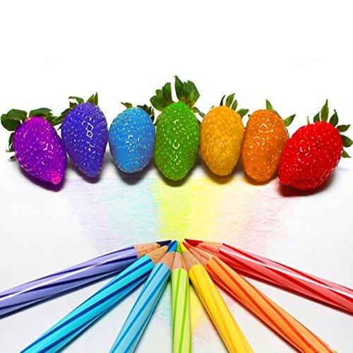 100 graines / sac couleur pluie bow graines de fraise fruits multicolores fraises graines graines de fleurs jardin pots et jardinières