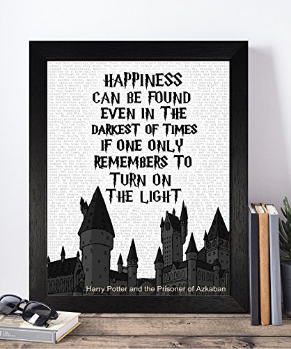 Vintage Harry Potter Quotes Unframed Print Poster Christmas Xmas Birthday Gifts For Him Her Home Decor Wall Art For Bedroom Living Room Hallway Housewarming Home Decor Elf Dobby Hogwarts Dumbledore
