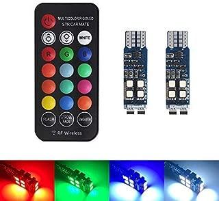 Xinfok T10 W5W RF Control RGB Led Car Clearance Lights RGB T10 LED 194 168 Bulb Remote Interior Car Lighting Source Car Styling
