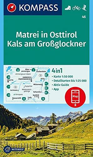 KOMPASS Wanderkarte Matrei in Osttirol, Kals am Großglockner: 4in1 Wanderkarte 1:50000 mit Aktiv Guide und Detailkarten inklusive Karte zur offline ... Skitouren. (KOMPASS-Wanderkarten, Band 46)