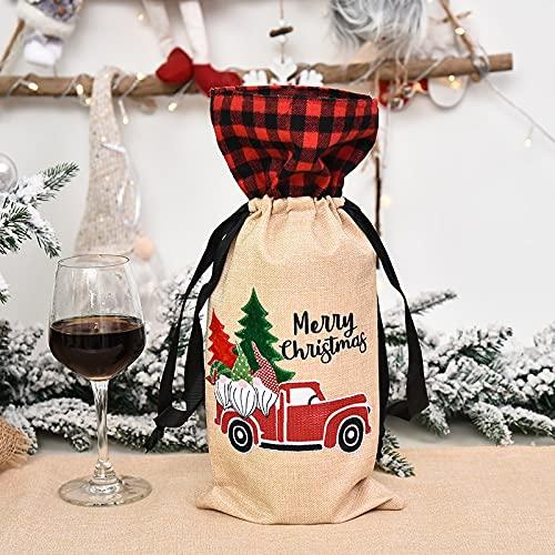 FYLYHWY 1pc Navidad Botella De Vino Cubiertas Bolsa Decoraciones De Navidad para La Mesa De Navidad En Casa (Color : Style1)