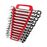 TEKTON Flex Ratcheting Combination Wrench Set, 12-Piece (8-19 mm) - Holder | WRN57170