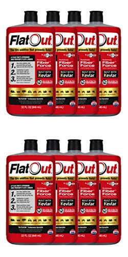 FlatOut Multi Seal 20118 Tire Additive (Multi-Purpose Formula), for Boat Trailers, ATV/UTVs, Golf Carts, Dirt Bikes, Riding Lawn Mowers, Snow Blowers and More, 256, 8 Pack