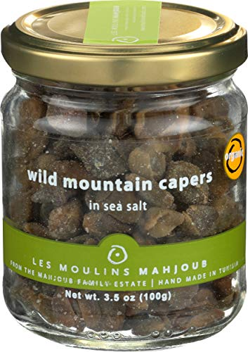 Les Moulins Mahjoub, Capers Wild Salted Organic, 3.5 Ounce
