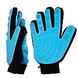 Rantizon 2 guantes de cepillado para mascotas, para el cuidado del pelo, para gatos y perros