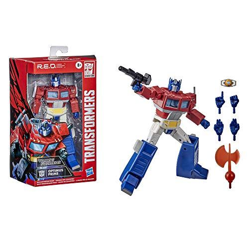 Transformers R.E.D. [Diseño mejorado de robot] The Transformers G1 Optimus Prime, figura no convertidora