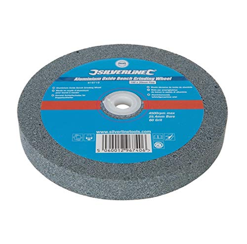 Silverline 819719 Muela Abrasiva de Óxido de Aluminio, 150 x 20 mm, Fino