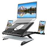 naspaluro Laptop Ständer Multi-Angle Notebook Desk mit Belüftung Einstellbare Laptop Halterung Kompatibel für Laptop (10-15,6 Zoll) MacBook Pro/Air Samsung Dell HP ASUS Lenovo Matebook (Schwarz)