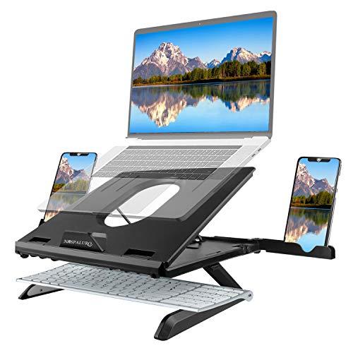 Naspaluro Soporte Portatil, 7 Ángulos Ajustables Ventilado Soporte para computadora Portatil, para MacBook/HP/Air/ Lenovo Altri 10-15.6