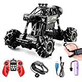 AXB Remote Control Car, Gesture Sensing RC Stunt Truck Vehicle Toy Stunt Truck 4WD 2.4GHz Double Sided 360°Rotating with LED Lights