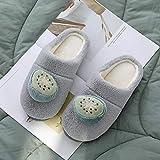 B/H Cerrada Pelusa Invierno,Zapatos de algodón de Lunares de Moda para Hombres y Mujeres, Zapatillas de casa-Dots_40-41, Zapatillas de Felpa Suave