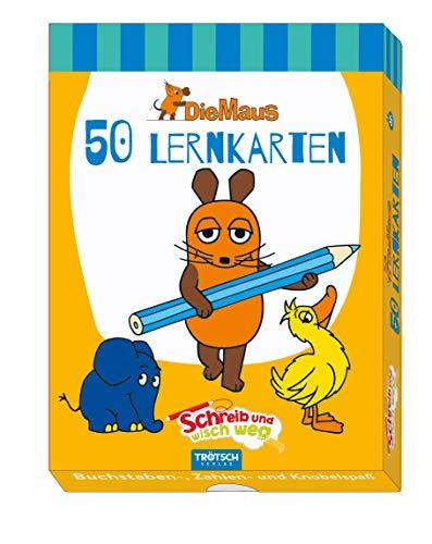 Troetsch Die Maus Lernkarten schreib und wisch weg 50 Karten mit Stift und Schwamm (Schreib und wisch weg / Lernkarten)