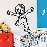 hetingyue Jeu de Dessin animé Sticker Mural Peinture Murale Amovible Sticker Mural Chambre décoration décoration Murale Papier Peint 30x33 cm