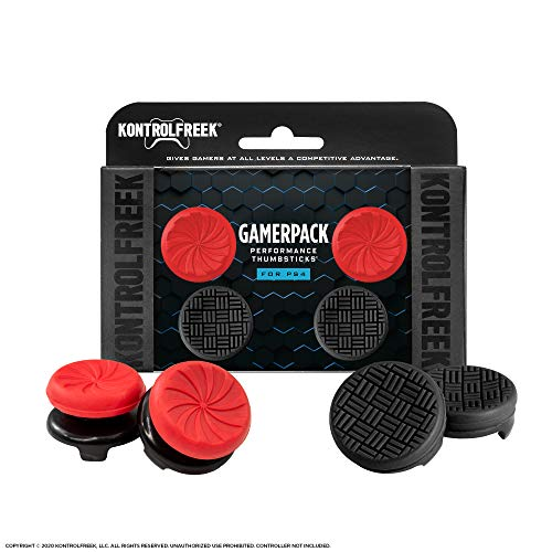 KontrolFreek Gamerpack Inferno + Omni Performance Thumbsticks for PlayStation 4 (PS4)   2 High-Rise (Inferno) 2 Low Rise (Omni)