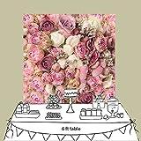 Kulisse für Bridal Shower Desktop Fotografie Hochzeit Wand Dekoration Baby Foto Prop D-8059 (150x150cm DE)