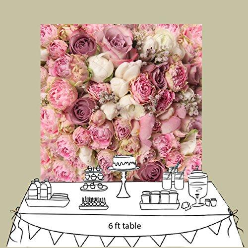 nivius Photo® 150* 150cm Horizontal de San Valentín, San Valentín Boda fotografía Fondo vinilo Toalla rosa rosas Patrón D de 8059