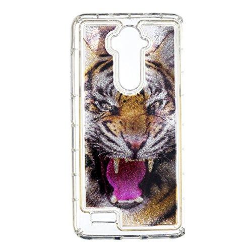 COZY HUT ZTE Z986 Glitzer Hülle, Treibsand 3D Shiny Transparent Back Cover Glitzer Handyhülle Skin Schale Beschützer Haut Case für ZTE Z986 - Heftiger Tiger