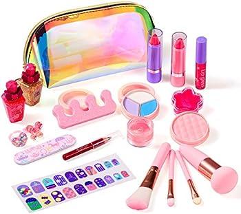 Biulotter Kids Makeup Kit for Girls Real Kids Cosmetics Make Up Set