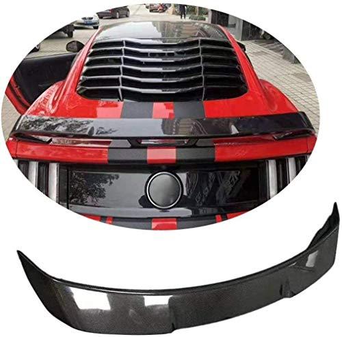 HYCy Alerón de Maletero Adecuado para Ford Mustang V8 V10 GT Coup & Eacute;2015-2019 Fibra de Carbono CF Tapa del Maletero Highkick Wing Lip