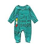 Beudylihy Mono para bebé, sin mangas, body para niños y niñas, mezcla de algodón, cuello redondo, suelto, para verano, fácil de poner y quitar. verde 0-3 Meses