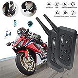 Yan Jianliang V6 Pro BT Moto CasqueÉcouteursTalkie walkie 1200M avec Bluetooth...