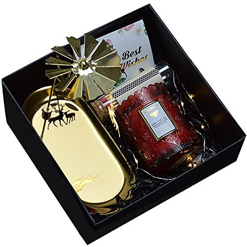 YICHEN Caja de Regalo de Vela de aromaterapia Regalo de cumpleaños para Madre y Novia Recuerdo Creativo día de San Valentín,Ebony Velvet Rose