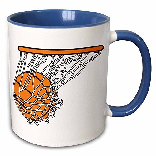 3dRose 116287_6 Basketball Woosh Ball In Net Vector Illustration...