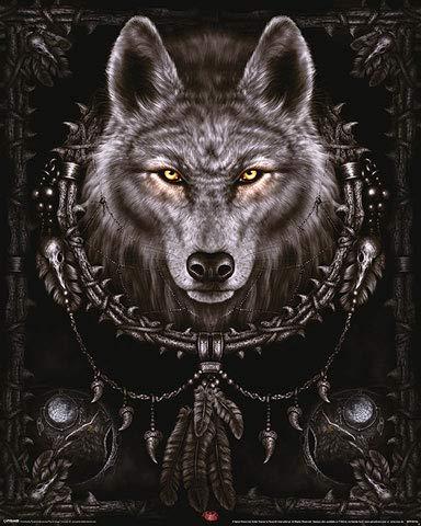 Spiral - Wolf Dreams - Gothic Poster - Grösse 40x50 cm