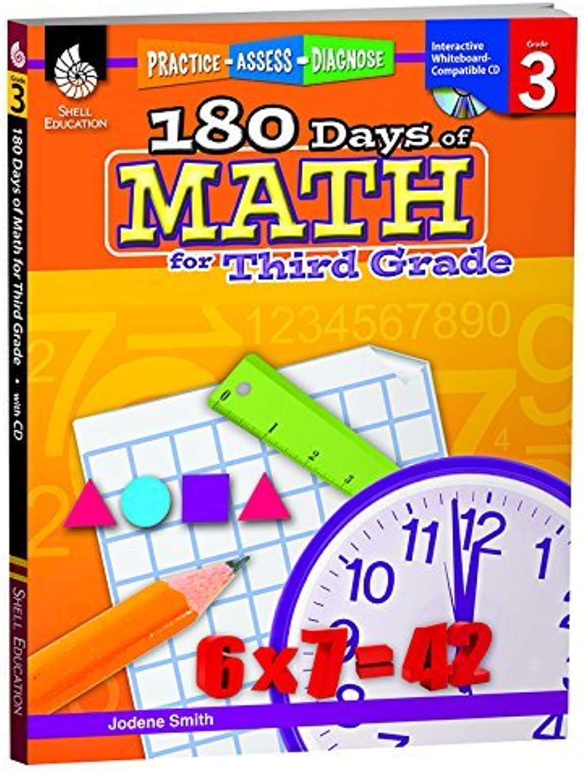180 Days Of Math Gr 3 By Shell Education by SHELL EDUCATION