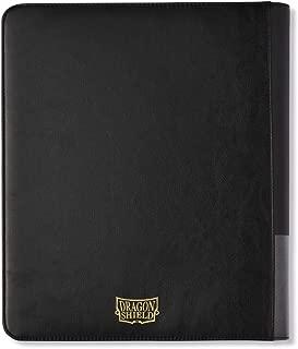 Black Dragon Shield Codex 9 Pocket Portfolio Zipster Zipper Enclosed 3 Ring Card Storage Binder