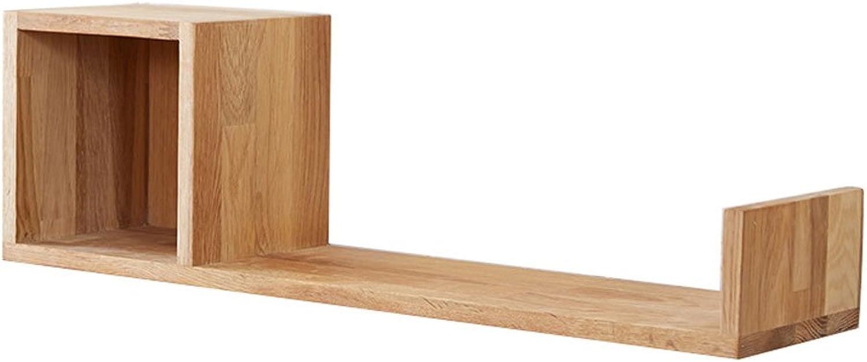 LQQGXLoffice Furniture Modern Minimalist Study Room Shelf, Solid Wood Wall Shelf Creative Lattice Wall Shelf Rack (color   1 )