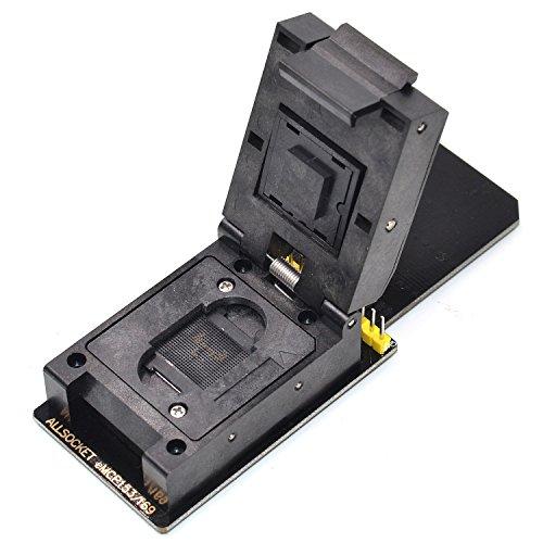 ALLSOCKET New BGA153 SD Reader eMMC153+169 Adapter Programmer Socket FBGA153/169 Ball for Samsung Toshiba Kingston Skhynix KMVTU000LM-B503 Flash Memory Reading/Writing(Black-SD Adapter)