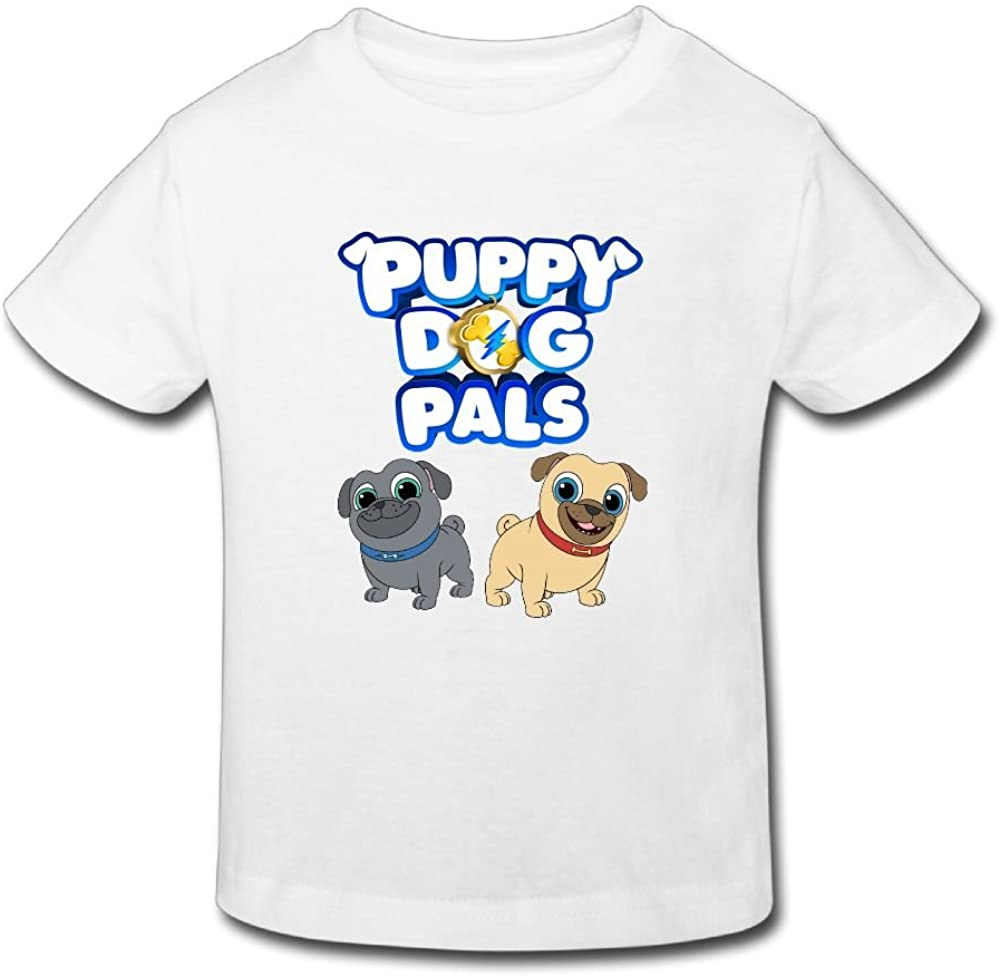 Ssuac Yi66 Puppy Dog Lovely Pals Child Perfect Short Sleeve Tank Top Cotton T-Shirt White