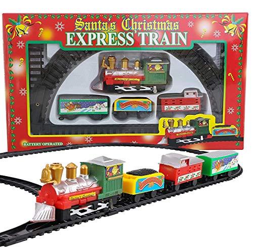 Toyland® 9 Piece Battery Operated Christmas Train Set...