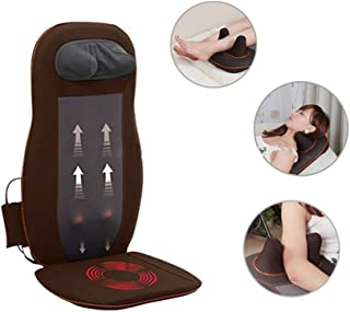 PowMax Vibration Massage Seat Cushion with Heat&Neck&Shoulder&Back,Massage, Relax, Sooth and Relieve Thigh, Shoulder and Back